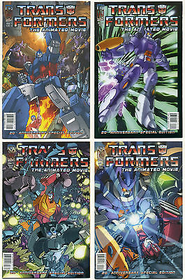 Transformers The Animated Movie Complete Set Of Comics 1 2 3 4 Nm/mt Idw 2006