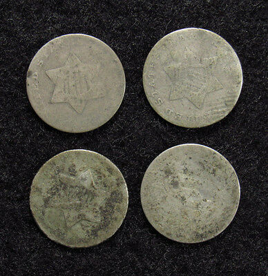 4- Three Cent Silver CULLS