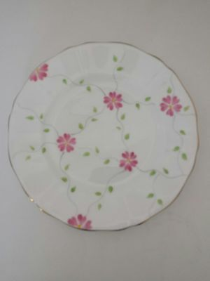 Lovely Vintage Adderley Bone China Plate Pink Floral