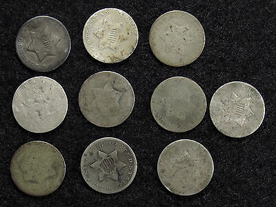 10- Three Cent Silver CULLS #2