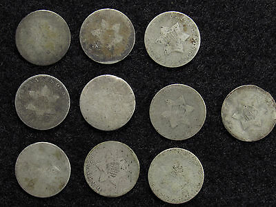 10- Three Cent Silver CULLS #3