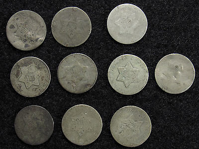 10- Three Cent Silver CULLS #4