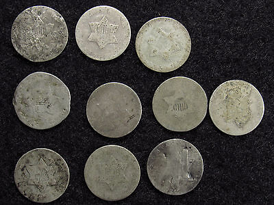 10- Three Cent Silver CULLS #5