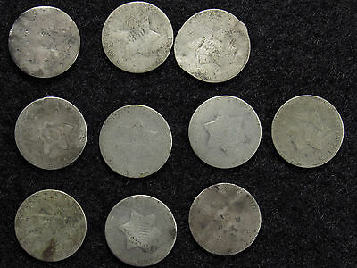 10- Three Cent Silver CULLS #7