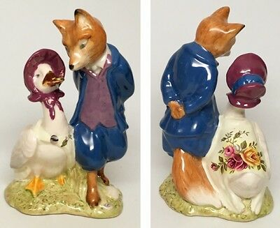 "Royal Albert Beatrix Potter ""Jemima Puddleduck w/ Foxy Whiskered Gentleman"""
