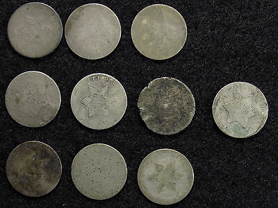 10- Three Cent Silver CULLS #8