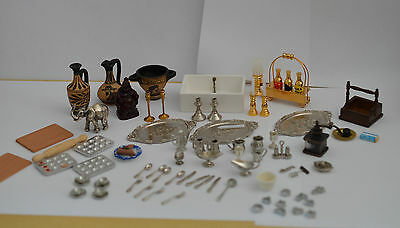 Joblot Dollshouse Miniature 12Th Scale Accessories