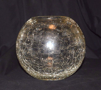 Beautiful Crackle glass-ware bowl with open top, very good condition