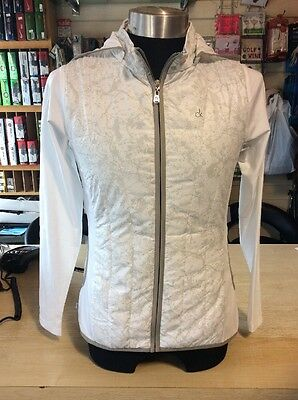 Calvin Klein Wind Resistant Ladies Summer Jacket Size 10 White/grey
