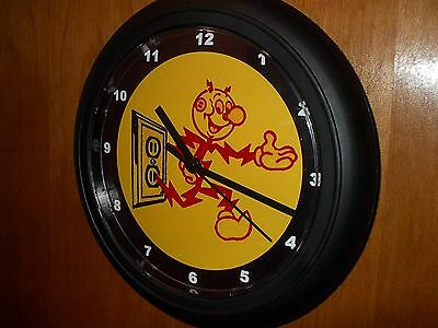 Reddy Kilowatt Electric Company Electrician Garage Man Cave Wall Clock Sign