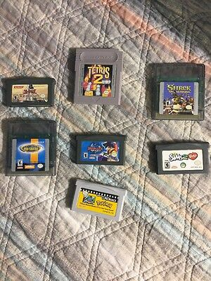 Lot Of 7 Nintendo GameBoy Advance & GameBoy Color Games GBA GBC