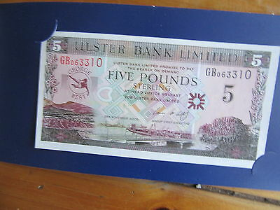 george best ulster bank 5 pounds note with sleeve