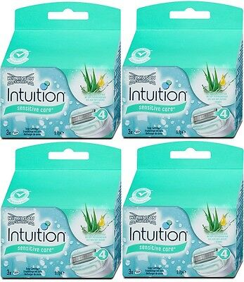 12x Wilkinson Intuition Naturals Sensitive Care Rasierklingen Ersatzklingen