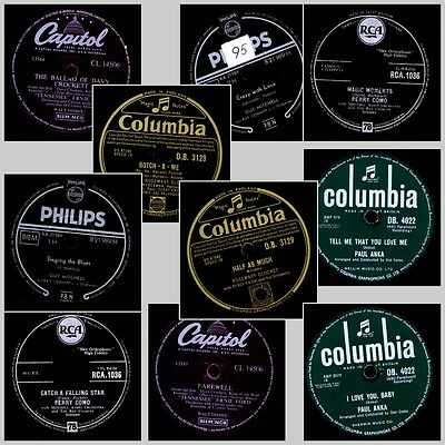 "5x ""JUKEBOX-HITS ON 78RPM"" Paul Anka, Clooney, Perry Como, Guy Mitchel... Set687"