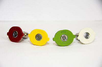 4 Pk. Color Coded Quick Change High Pressure Nozzle Set for 3GPM to 4GPM