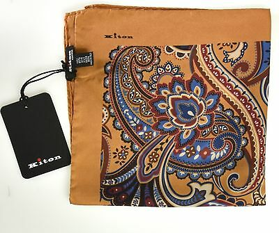 NEW 2017 KITON POCKET SQUARE 100%SILK 16x16 BEST OF THE BEST+1 KPS49
