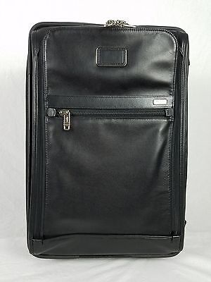 New Tumi Alpha Expandable International Leather Carry On Suitcase 92220DH $1,095
