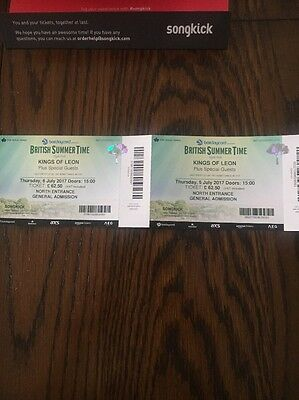 2 X Barclaycard British Summertime Kings Of Leon Tickets