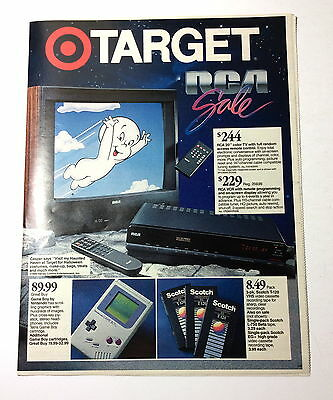 1990 TARGET Store Newspaper Color Advertising Section Features Nintendo Game Boy