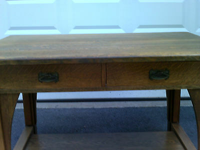 "Antique Mission Oak Limbert Library Table/Desk  48"" x 34"" - Signed"