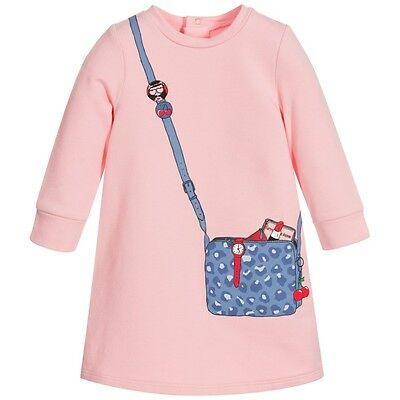 Little Marc Jacobs Baby Pink Dress With Handbag Print 3 Years