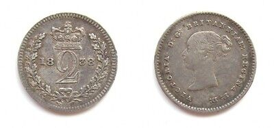 Victoria 1838 Silver Maundy Twopence