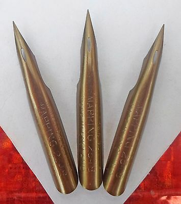 3 vintage M.Myers & Son LTD. Mapping Pen No.2348 nibs
