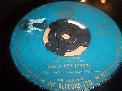 "Santo & Johnny "" Sleep Walk / All Night Diner "" 7"" Single Excellent 1959"