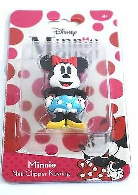 Disney Soft Touch Nail Clipper Key Ring Keychain Keyring Minnie Mouse