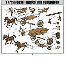 Airfix Battle Of Waterloo - Farm Accessories Set - Two Wagons 1/72