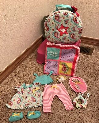 American Girl Bitty Baby Doll Starter Set with Blanket, Hat, Bag