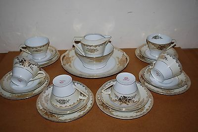 Noritake Vintage Art Deco Gold Gilded Teaset Stunning 21 Pieces...