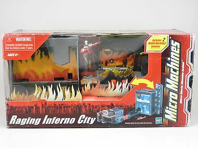 MICRO-MACHINES RAGING INFERNO CITY,  2003, HASBRO, New in Sealed Box