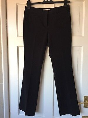 Michael Kors Skinny Flare Stretch Trousers Black Size 2Us/6/8 Uk Ankle Graze