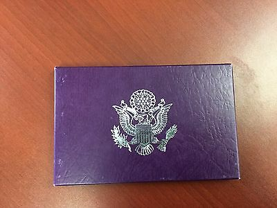 1987 United States proof set with box and paper