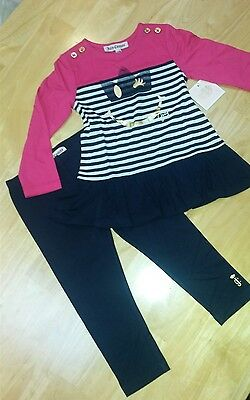 Girls /baby Juicy Couture Outfit Top And Leggings Age 18-24 Months New With Tags