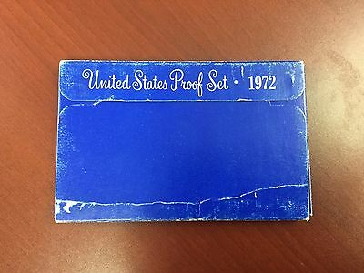 1972 United States proof set with box and paper