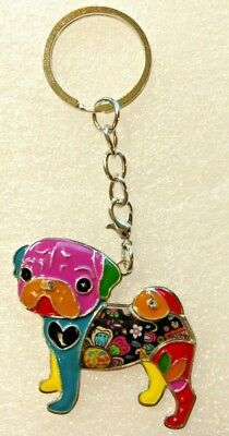 Bonsny Pug Jewelry Dog Pup Pendant Necklace Multicolor