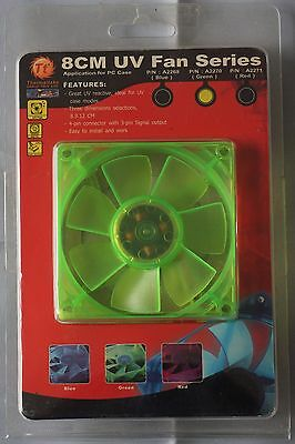 Thermaltake Computer Case Fan 8CM UV Fan Series Green Colour