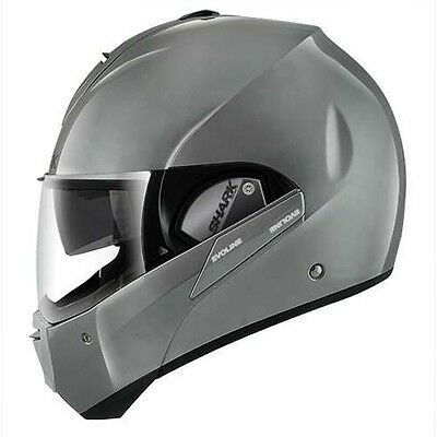Shark EvoLine Series 3 Flip Up Street Motorcycle Helmet Grey Quartz Medium MD