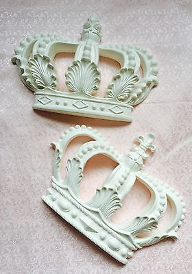Mouldings Shabby Chic Furniture Girls Canopy Large Prince Princess Crown Bed