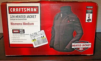 CRAFTSMAN 12V WOMENS HEATED JACKET Coat X-LARGE Size BLACK 43649 Motorcycle XL