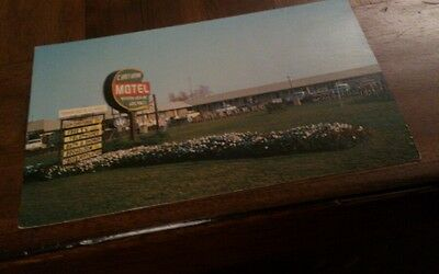 Old postcard chatham motel ontario unposted