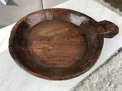 Hand Carved Wooden Bowl Lombok Style