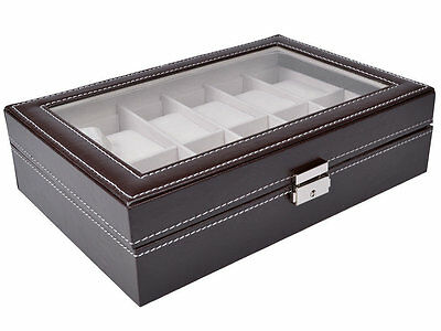 12 Slot Glass Top Watch Box Rebrilliant Free Shipping High Quality