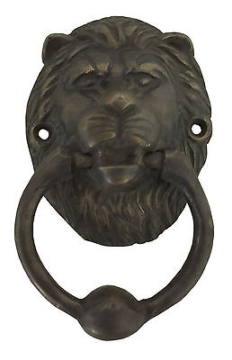 Lion Head Brass Door Knocker or Puller D-Art Collection Free Shipping