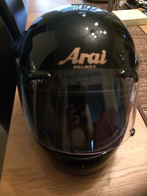Arai Black Crash Helmet Medium With Cloth Bag