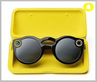 Snapchat Glasses Spectacles  IOS Android Bluetooth BLACK + Full Kits UK Stock