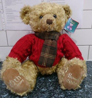 Harrods 2005 Nicolas 13 Inch 20th Anniversary Christmas Bear New and Tagged