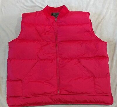 Eddie Bauer Men's XL Classic RED  Goose Down Insulated PUFFER Vest OUTDOORS